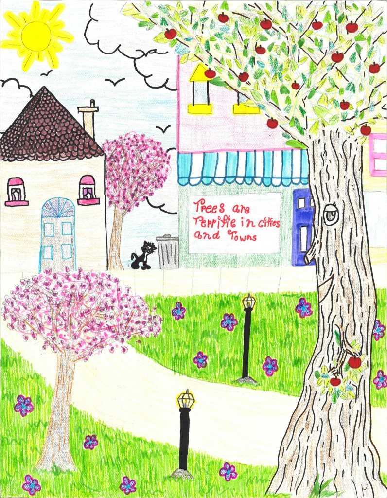 Isabella Garber, a fifth-grader at Christ the Teacher School in Newark was named the overall winner of the 2014 Arbor Day School Poster Contest sponsored by the Delaware Forest Service.
