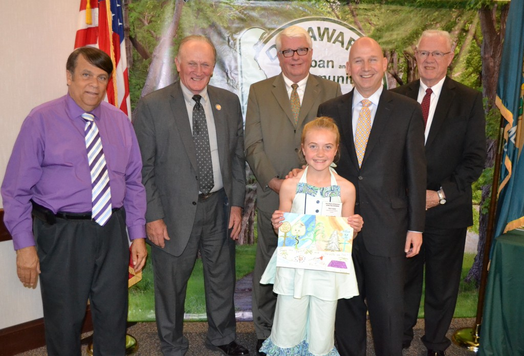 Rain Vasey, a fifth-grade student from Water Girl Farm Academy in Lincoln, was honored as the winner of the annual Delaware Forest Service School Poster Contest. She also won the award last year as a fourth-grader