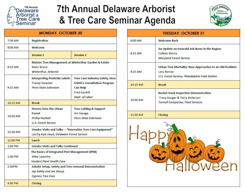 2017 Delaware Arborist Agenda