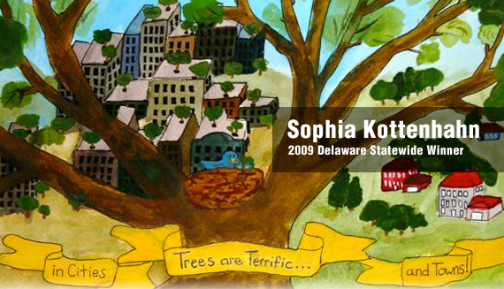 Sophia Kottenhahn was the 2009 Statewide Winner and National Representative for the Arbor Day School Poster Contest.
