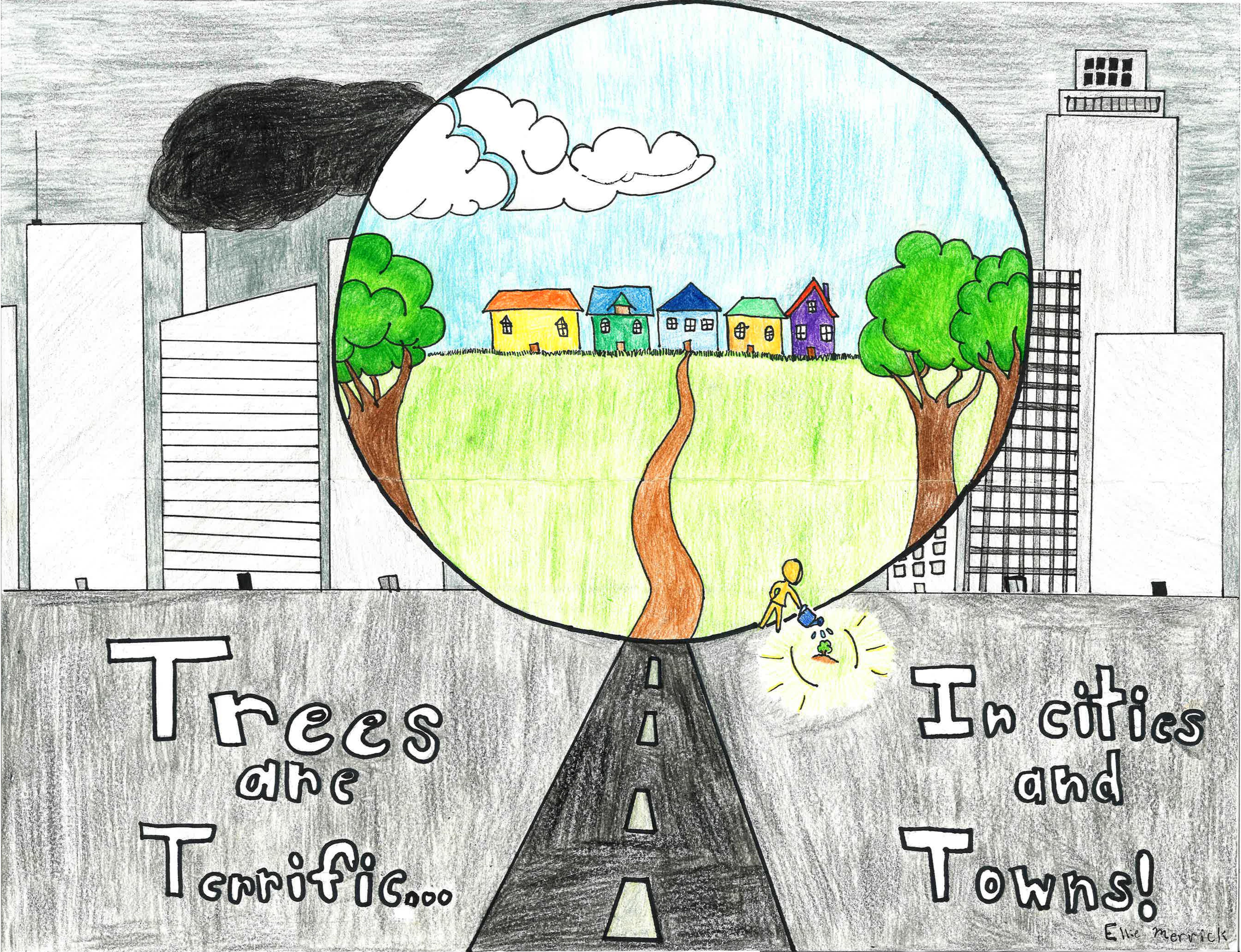 Ellie Merrick, 2019 Delaware Arbor Day Poster Contest winner.